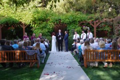 Ceremony by pergola