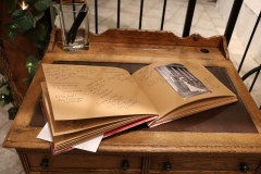 Guestbook by entrance